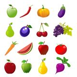 Food icons. On white background Stock Photos