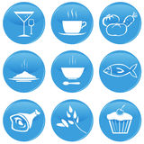 Food icons. Set of 9 vector food icons Royalty Free Stock Photos