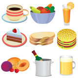 Food icons. Royalty Free Stock Images