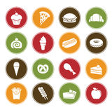 Food icons. A vector illustration of different food icons Stock Images