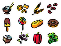 Free Food Icons Royalty Free Stock Photo - 3343565