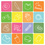 Food icons royalty free illustration