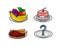 Food icons 4 Stock Images