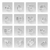 Food icons Stock Photo