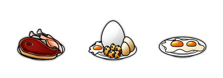 Food icons 6 Royalty Free Stock Image