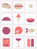 Food icons. Set of food and drink icons stock illustration