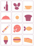 Food icons Royalty Free Stock Photos