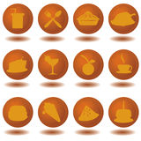 Food icons. For restaurants, dining, fast food and others royalty free illustration