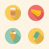 Food Icons. Abstract food icons on a white background Royalty Free Stock Images
