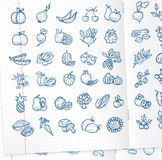 Food icons. Authors illustration in vector Royalty Free Illustration