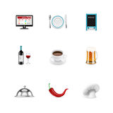 Food icons. Azzuro series Royalty Free Stock Images