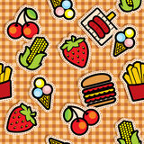 Food icons background Stock Images