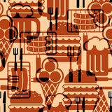 Food icons background Stock Image