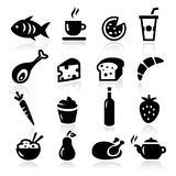 Food Icons Royalty Free Stock Images