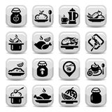 Food  icons Royalty Free Stock Photography