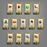 Food icons for games. Royalty Free Stock Photography