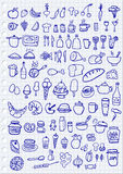 Food Icons. Hand drawn food icons set Royalty Free Stock Images