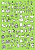 Food Icons. Hand drawn food icons set Stock Photo