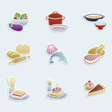 Food icons Stock Image