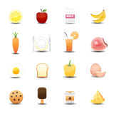 Food icons. This image is a vector illustration.Food icons Royalty Free Stock Image