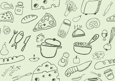 Food icons seamless pattern Royalty Free Stock Photos