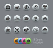 Food Icons - Set 1 of 2 // Pearly Series Royalty Free Stock Image