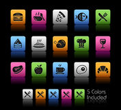Food Icons - Set 1 // Color Box Royalty Free Stock Images