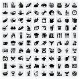 Food icons set Royalty Free Stock Image