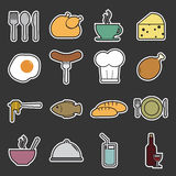 Food icons set Royalty Free Stock Image
