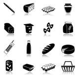 Food icons set Stock Photography