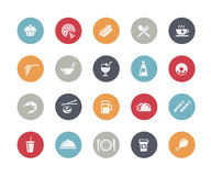 Food Icons - Set 2 of 2 // Classics. Vector icons set for your web or presentation projects Stock Photo
