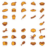 Food icons set. Food icons collection set.  and illustration Stock Image