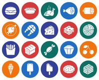 Food  icons set. Collection of round icons: Food Royalty Free Stock Photo