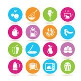 Food icons vector illustration