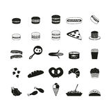 Food icons set. Set of food icons Stock Photography