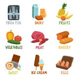 Food Icons Set Royalty Free Stock Photos