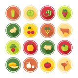 Food icons set Stock Image