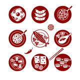 Food icons set. Royalty Free Stock Photography
