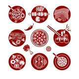 Food icons set. Royalty Free Stock Photos