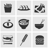 Food icons set great for any use. Vector EPS10. Royalty Free Stock Image