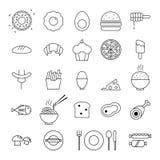 Food icons set illustration Stock Photos