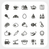 Food icons set. Isolated on white background, EPS10, Dont use transparency Stock Photo