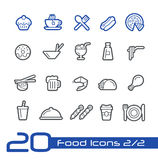 Food Icons - Set 2 of 2 // Line Series Stock Images