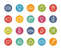 Food Icons - Set 1 of 2 -- Printemps Series Royalty Free Stock Photography