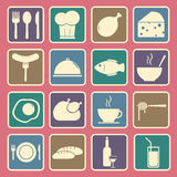 Food icons set. Set of simple food icons set royalty free illustration