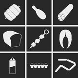 Food Icons. Set of icons on a theme food Stock Images