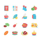Food Icons. A set of varied food icons. EPS 10, no transparencies Stock Photo
