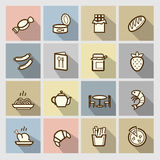 Food icons set Royalty Free Stock Photo