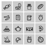 Food icons set royalty free illustration