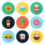 Food icons. Set. vector illustration Stock Photo